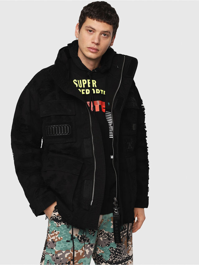 Diesel - J-TOUCHA-DESTROY, Black - Jackets - Image 1