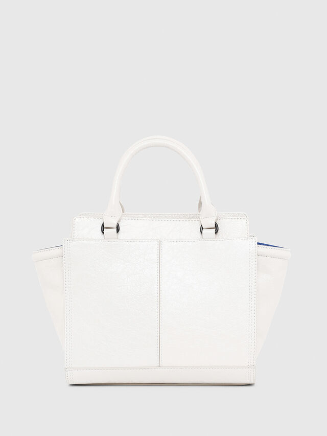 Diesel - LE-ZIPPER SATCHEL S, White - Satchels and Handbags - Image 2