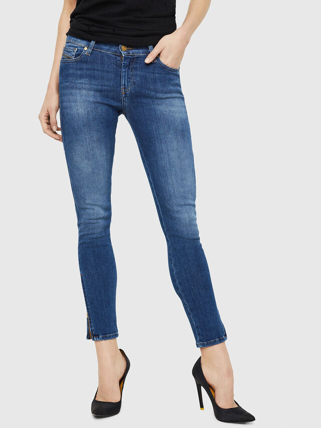 Diesel - Slandy Zip 088AU, Medium blue - Jeans - Image 1