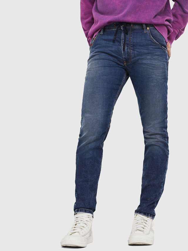Diesel - Krooley JoggJeans 069FG, Dark Blue - Jeans - Image 1