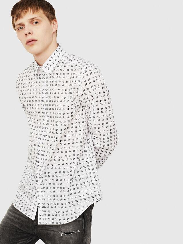 Diesel - S-AKURA, White/Black - Shirts - Image 4