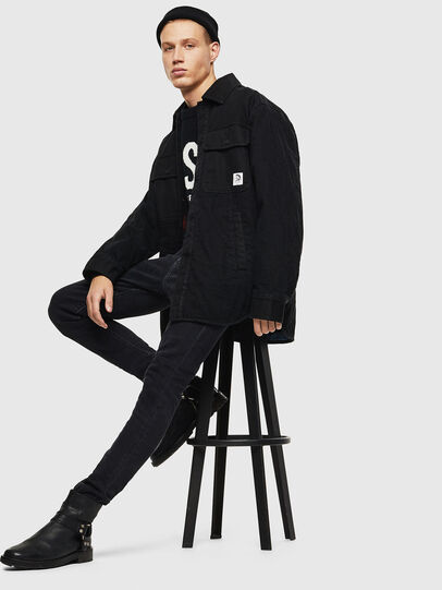Diesel - D-WELLES, Black - Denim Shirts - Image 7