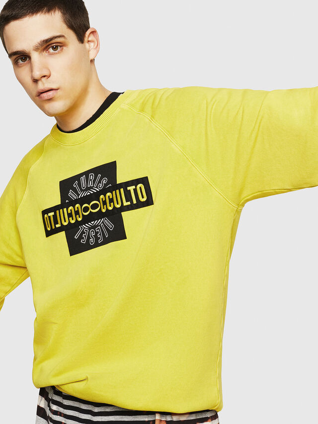 Diesel - S-RODD, Yellow Fluo - Sweaters - Image 5