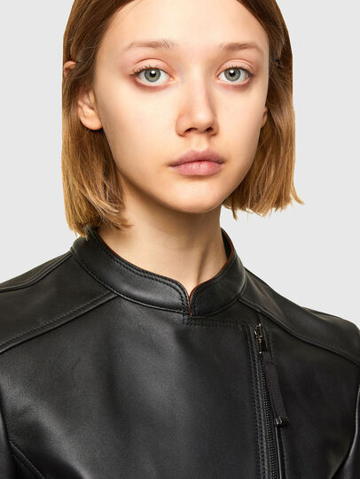 Diesel - L-MIMYY, Black - Leather jackets - Image 3