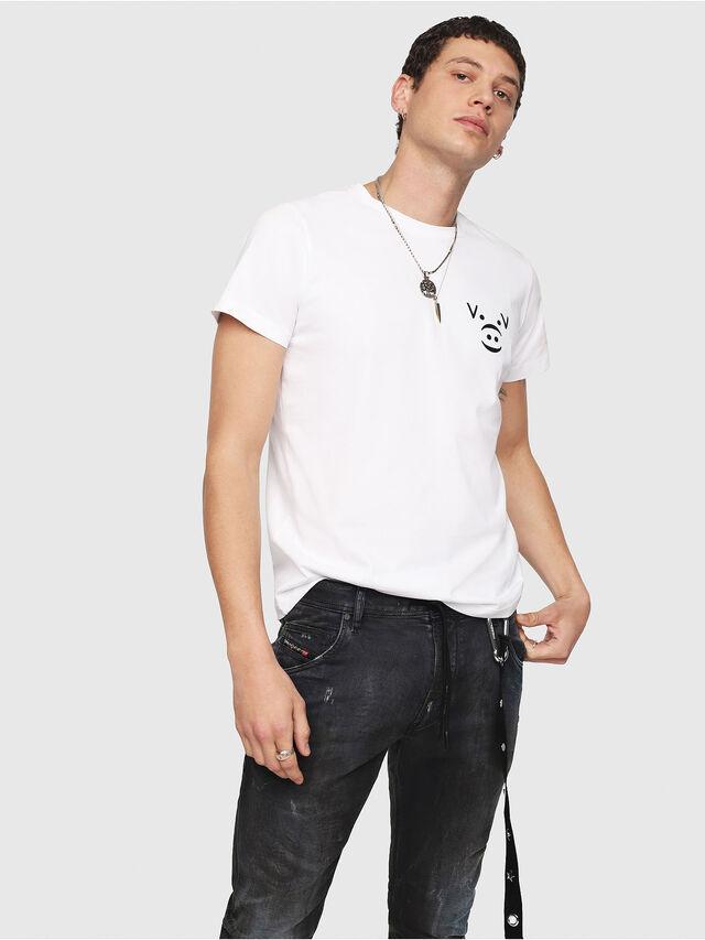 Diesel - CL-T-GADIE, White - T-Shirts - Image 1