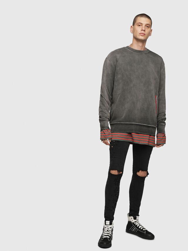 Diesel - S-BAY-YA, Black/Grey - Sweaters - Image 4