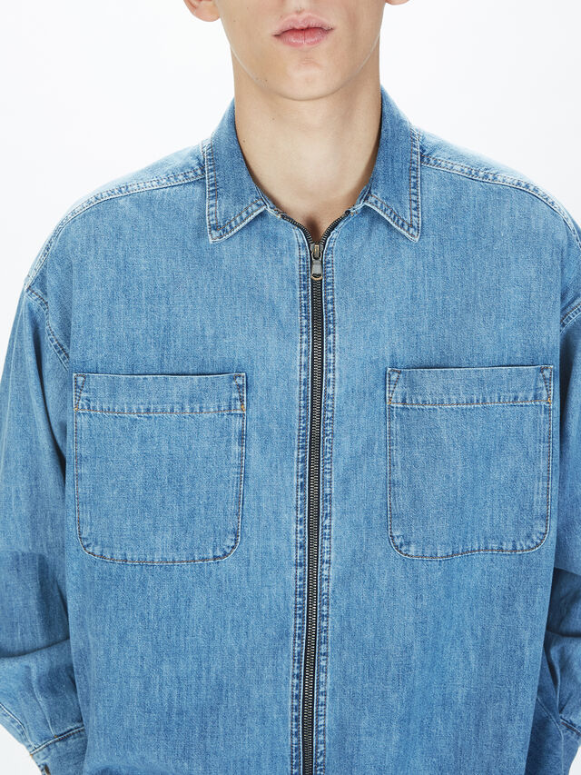 Diesel - SOTS01, Light Blue - Shirts - Image 8