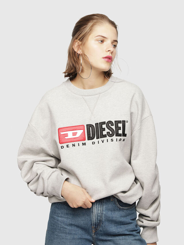 Diesel - F-ARAP, Light Grey - Sweaters - Image 1