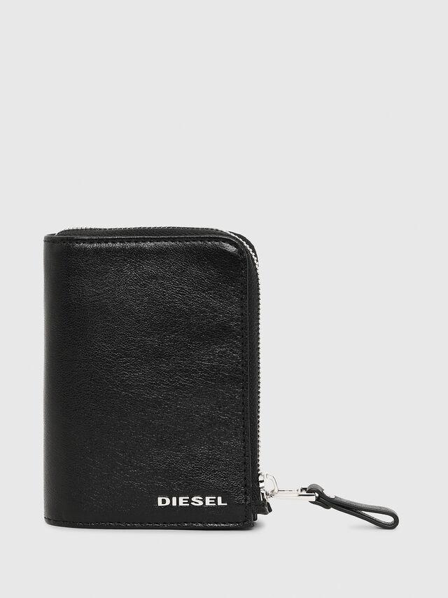 Diesel - L-12ZIP, Black - Small Wallets - Image 1