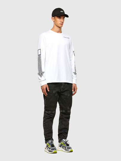 Diesel - T-JUST-LS-A8, White - T-Shirts - Image 4