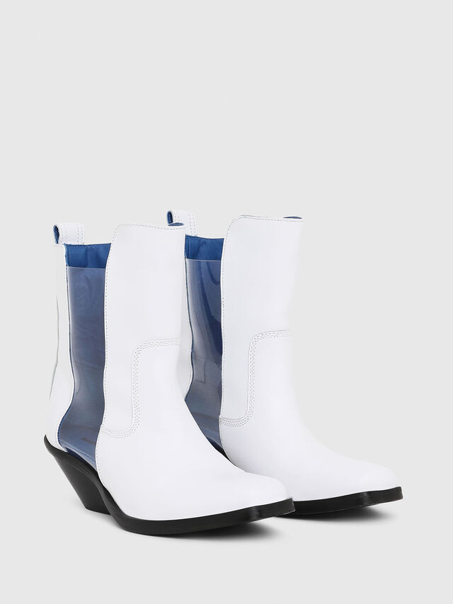 Diesel - D-GIUDECCA MAT, White - Ankle Boots - Image 2