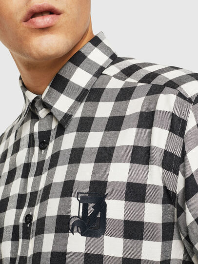 Diesel - S-VEN-CHECK, Black/White - Shirts - Image 5