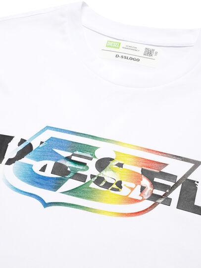 Diesel - D-55LOGO, White - T-Shirts - Image 3