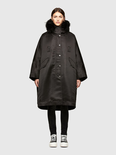 Diesel - W-URSULA-A, Black - Winter Jackets - Image 1