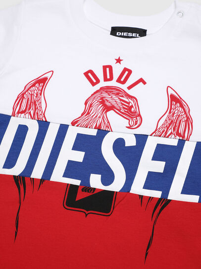 Diesel - TRICKYB, White/Red/Blu - T-shirts and Tops - Image 3