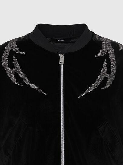 Diesel - F-CHINIL, Black - Sweaters - Image 4