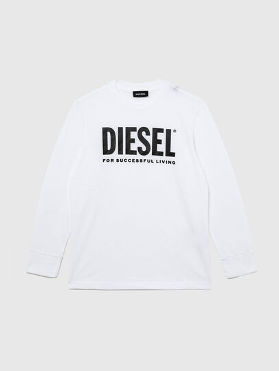Diesel - TJUSTLOGO ML, White - T-shirts and Tops - Image 1
