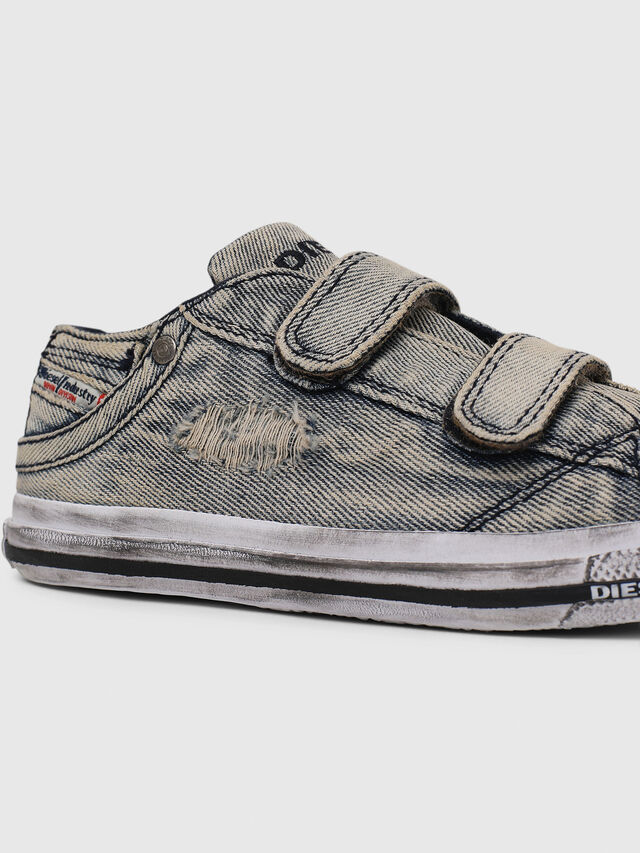 Diesel - SN LOW 11 STRAP  DEN, Grey Jeans - Footwear - Image 4