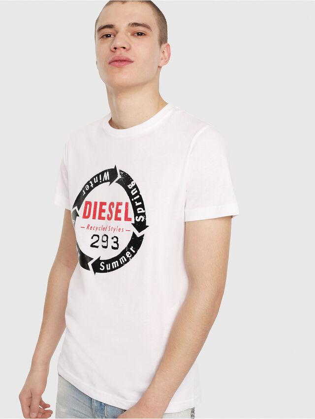 Diesel - T-DIEGO-C1, White - T-Shirts - Image 1
