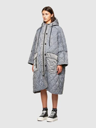 Diesel - W-DAYA, Grey - Winter Jackets - Image 5