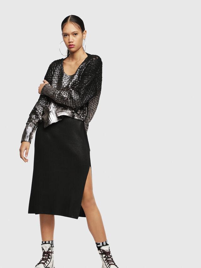 Diesel - M-CLOK, Black/Silver - Knitwear - Image 4