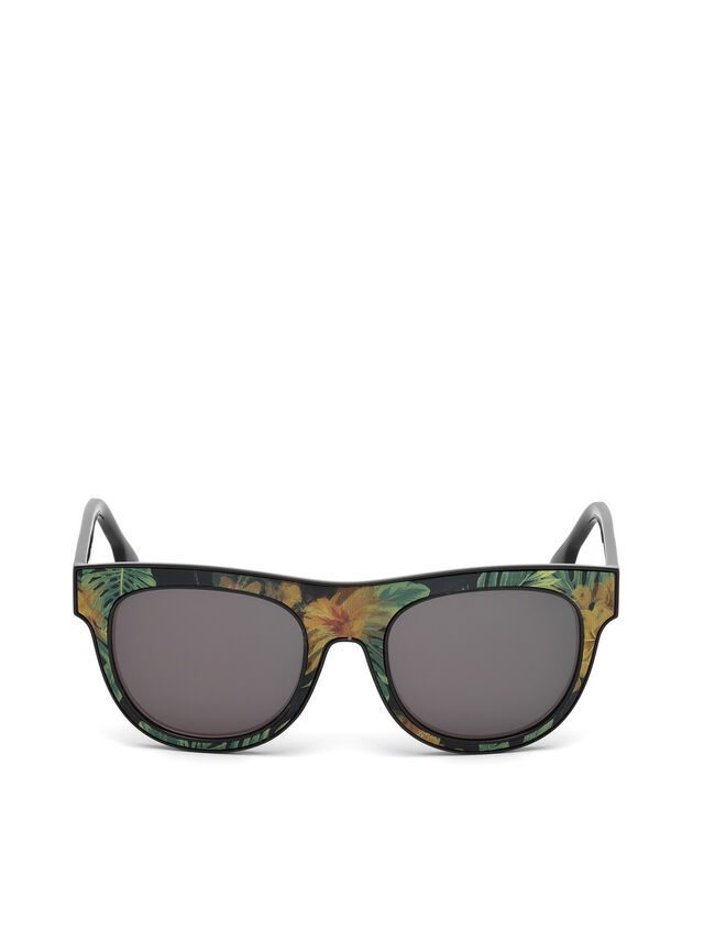 Diesel DM0160, Black/Orange - Eyewear - Image 1