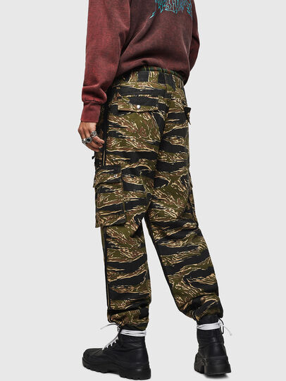 Diesel - P-LUZAVIC-TIGERCAM, Military Green - Pants - Image 3