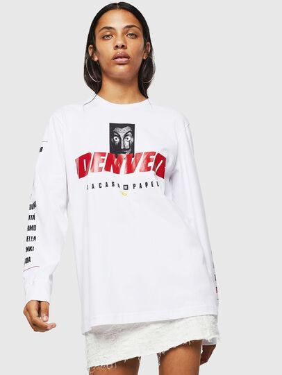 Diesel - LCP-T-JUST-LS-DENVER, White - T-Shirts - Image 2