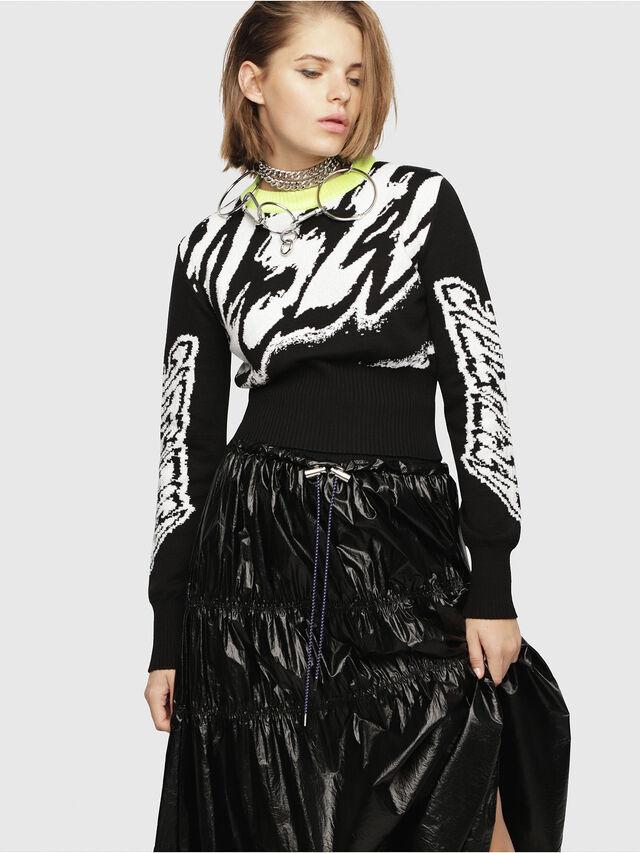 Diesel - M-SCOT, Black/White - Knitwear - Image 1