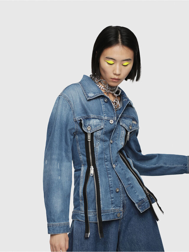 Diesel - DE-LILAC, Blue Jeans - Denim Jackets - Image 5