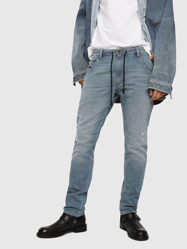 Diesel - Krooley JoggJeans 086AY, Medium blue - Jeans - Image 1