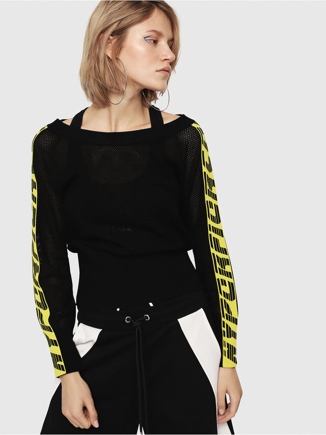 Diesel - M-NANCY, Black/Yellow - Knitwear - Image 1