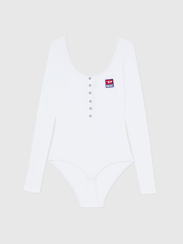 UFBY-BODYBUT-LS-C, White - Bodysuits