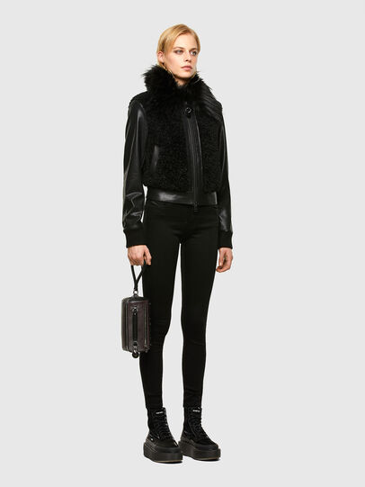 Diesel - L-LEDA, Black - Leather jackets - Image 6