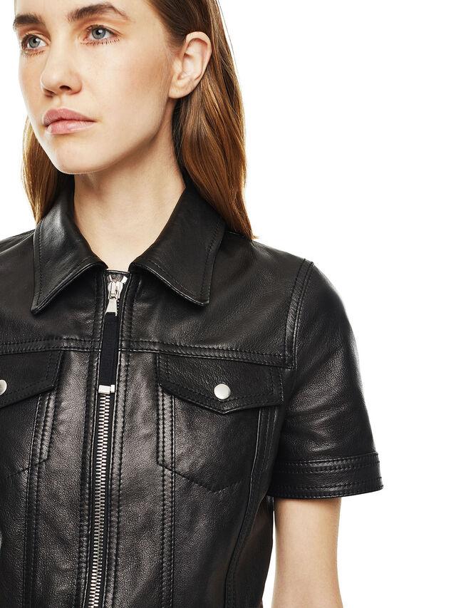 Diesel - DAFFIE, Black Leather - Leather dresses - Image 4