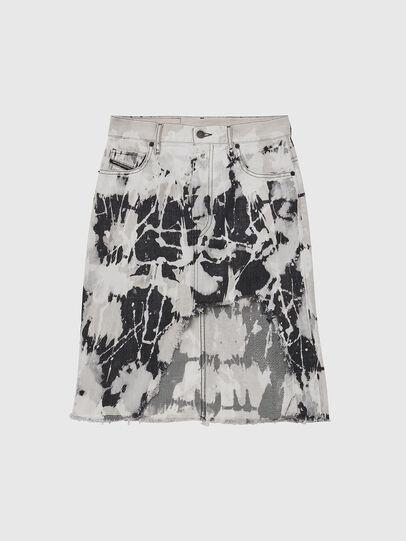 Diesel - DE-ELLYOT-SP, Black/White - Skirts - Image 1
