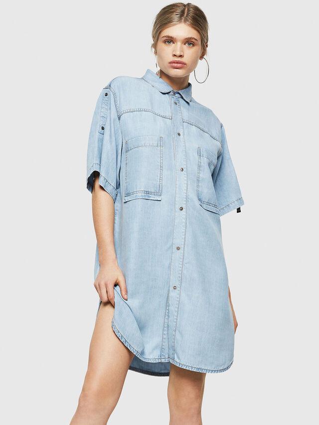 Diesel - DE-SUP-SL, Blue Jeans - Dresses - Image 1