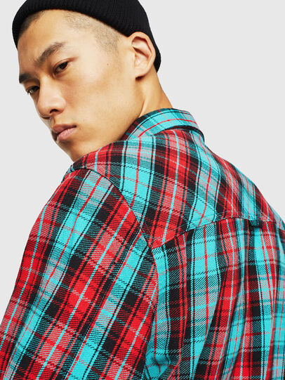 Diesel - S-GERRY-CHECK, Red - Shirts - Image 5