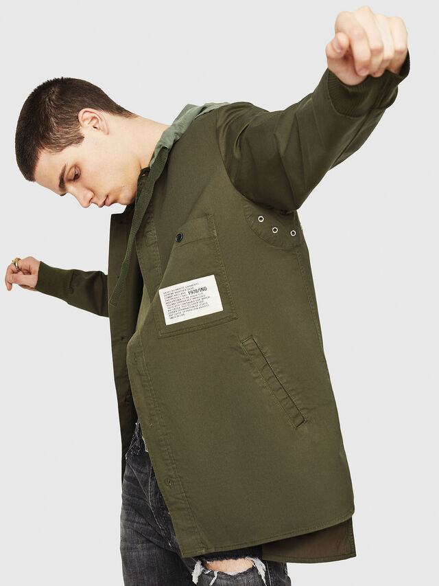 Diesel - S-EIKU, Military Green - Shirts - Image 4