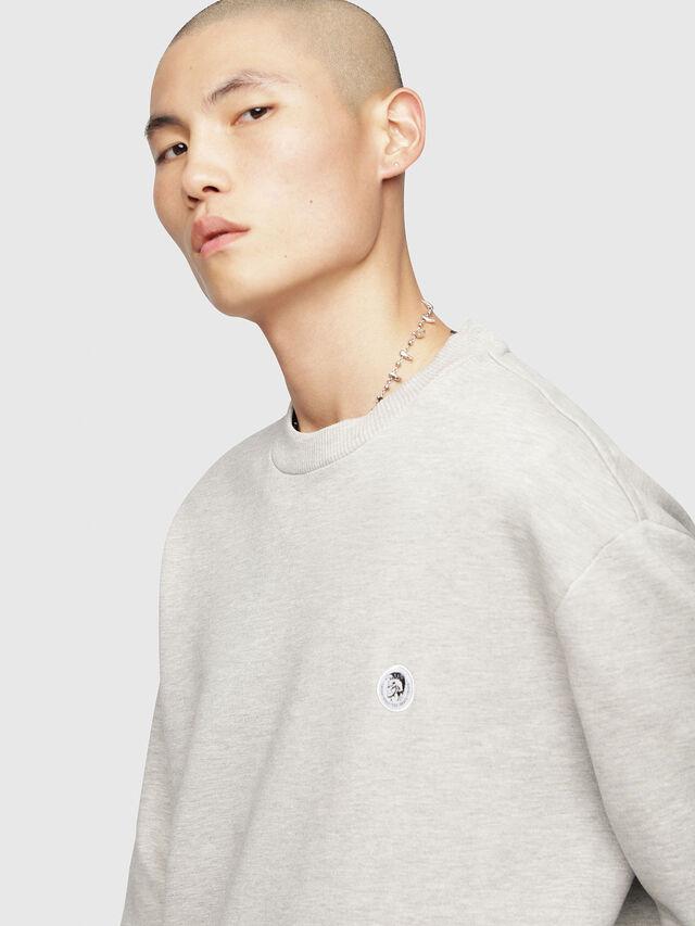 Diesel - S-LINK, Light Grey - Sweaters - Image 3