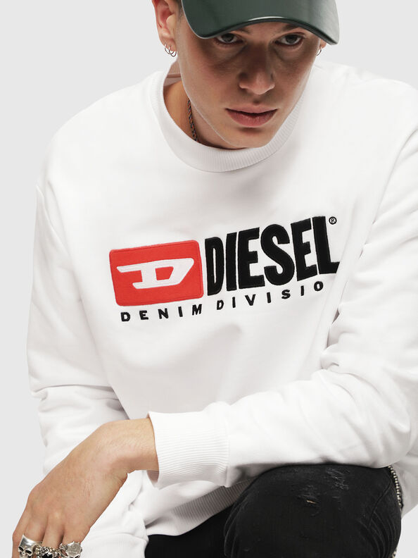 S-CREW-DIVISION, White - Sweaters