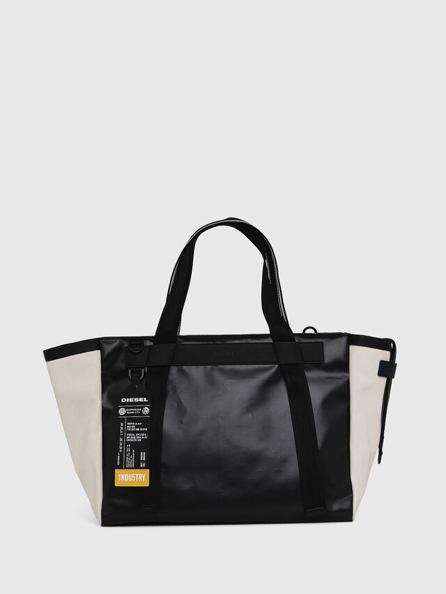 Diesel - F-CAORLY SHOPPER L, Black/White - Shopping and Shoulder Bags - Image 1