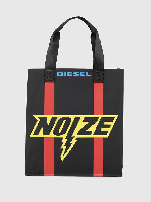 Diesel - BILLBOARD SHOPPER, Black/Yellow - Bags - Image 1