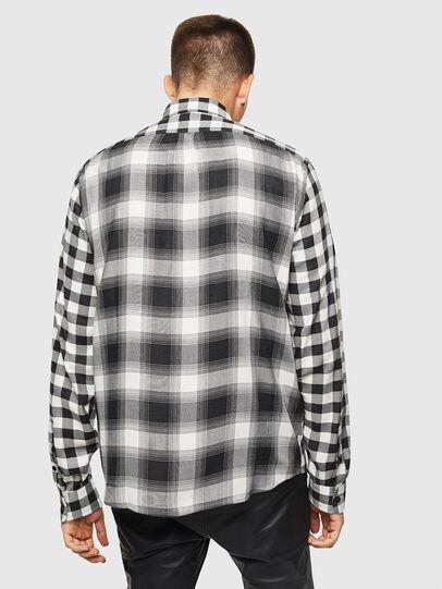 Diesel - S-VEN-CHECK, Black/White - Shirts - Image 2