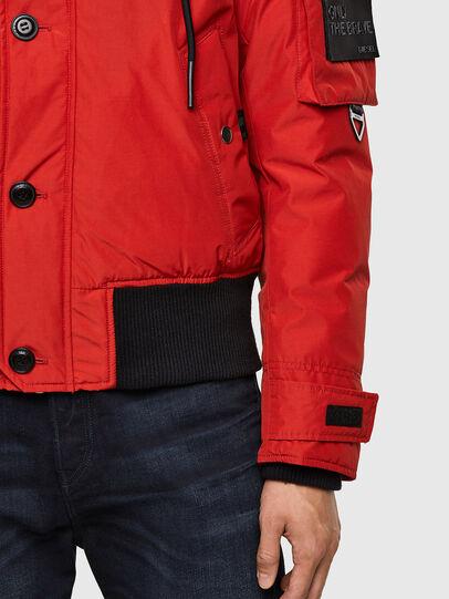 Diesel - W-JAME, Red - Winter Jackets - Image 5