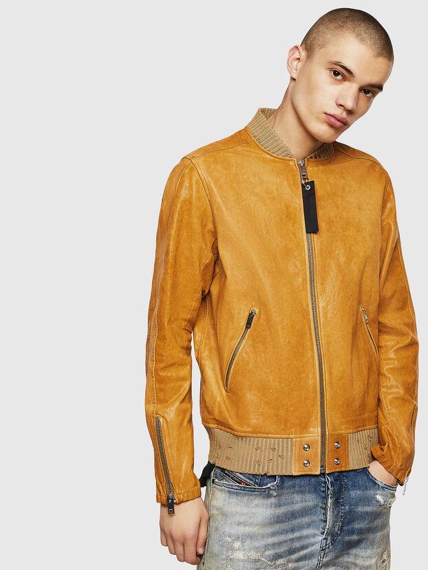 L-DAVIDOV, Yellow Ocher - Leather jackets
