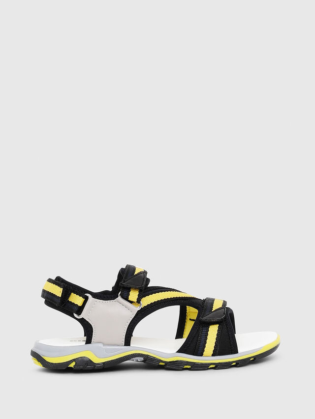 Diesel - SA 07 STRIPE CH, Gray/Black - Footwear - Image 1