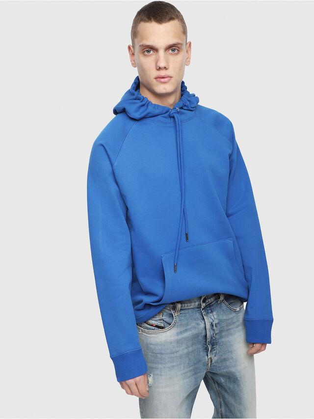 Diesel - S-GIM-HOOD-A, Brilliant Blue - Sweaters - Image 1