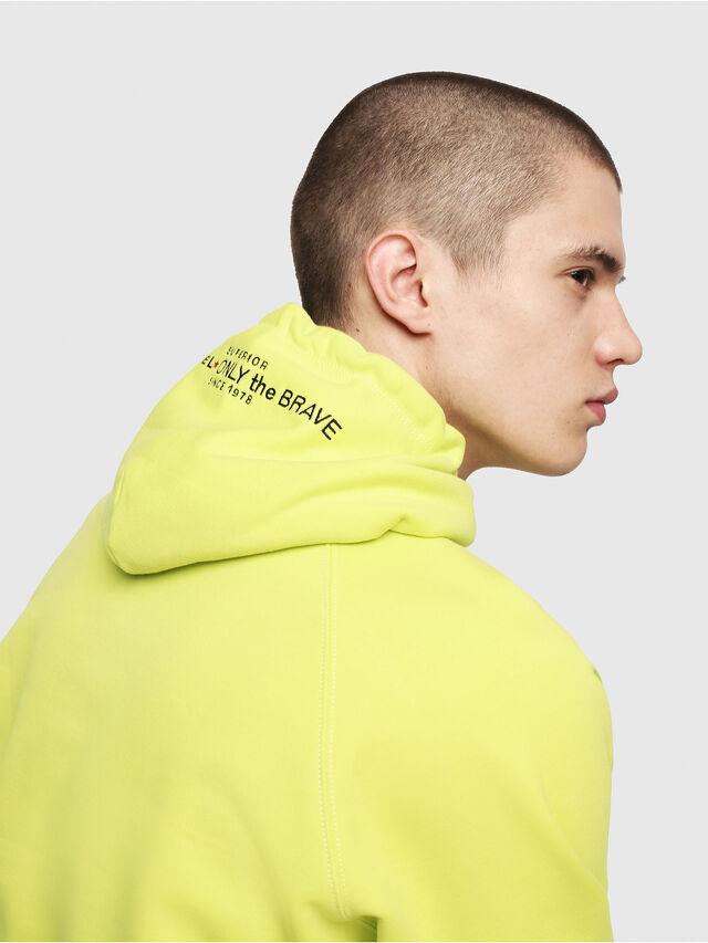 Diesel - S-GIM-HOOD-A, Yellow Fluo - Sweaters - Image 4