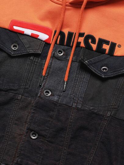 Diesel - D-BNHILL55, Orange - Denim Jackets - Image 4